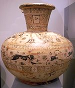 East greek oinochoe in the Wild goat style at the Antikensammlung Berlin.jpg