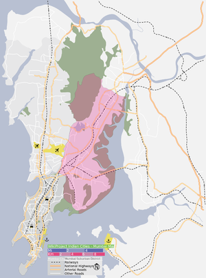 Eastern Suburbs (Mumbai) - Image: Eastern Suburbs of Mumbai as at 2013