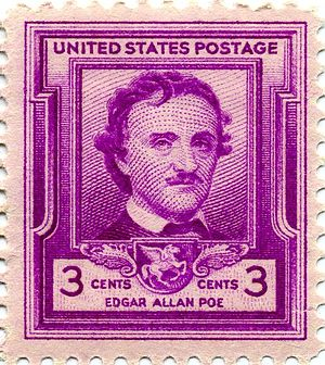 English: Edgar Allen Poe, poet and writer, com...