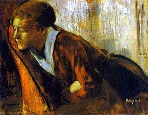 Mal du siècle - Edgar Degas, Melancholy (c. 1874)