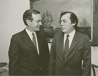 Edgar Bronfman Sr. - Edgar M Bronfman and President George H. W. Bush