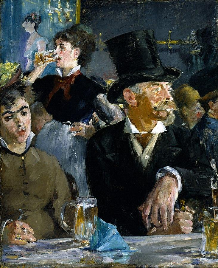 பீர் பற்றிய  உண்மைகள் 732px-Edouard_Manet_-_At_the_Caf%C3%A9_-_Google_Art_Project