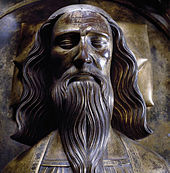 A head-and-shoulders drawing of Edward III, in armour and bearing a sword