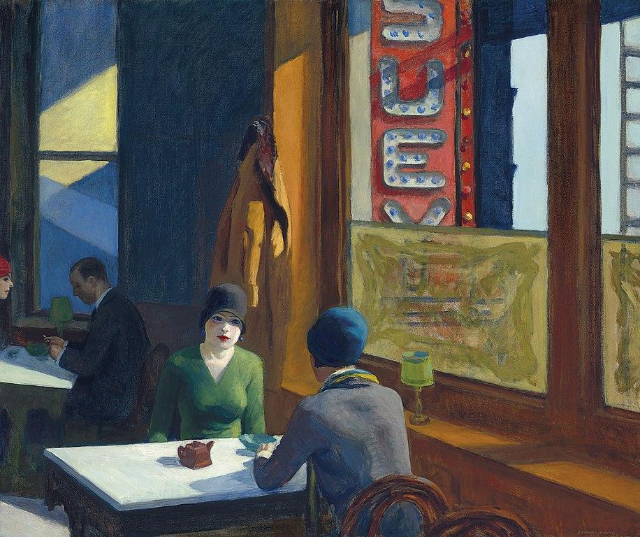 Chop Suey, Edward Hopper, 1929, The Roaring Twenties
