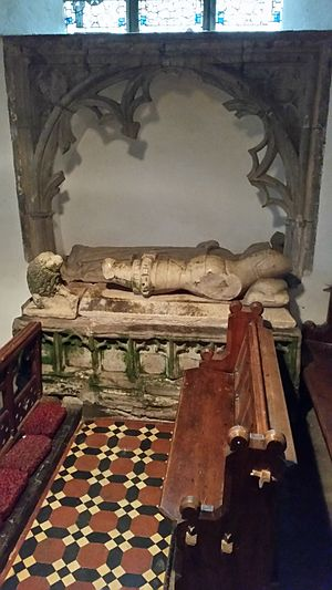 King's Pyon Church - Effigy of Man in Armour found in South Transept