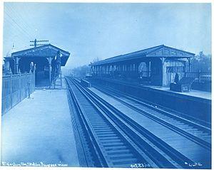 Egleston (MBTA station) - Egleston station under construction in 1908