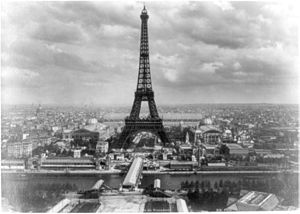 Monochrome - Black-and-white monochrome: the Eiffel Tower during the 1889 Exposition Universelle, for which it was built