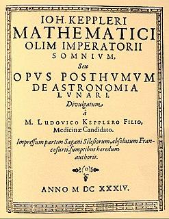 <i>Somnium</i> (novel) science fiction novel by Johannes Kepler