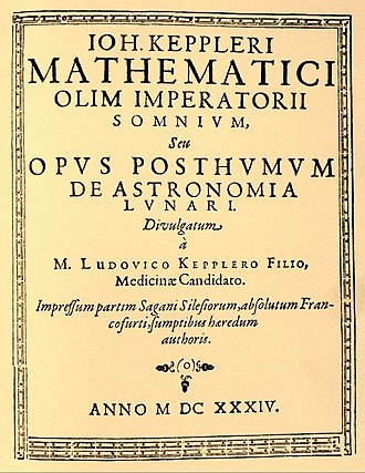 Somnium (novel) - Reproduction of 1634 title page
