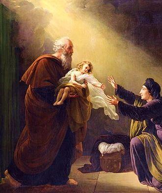 Elijah - Elijah reviving the Son of the Widow of Zarephath by Louis Hersent