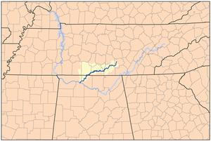 Elk River (Tennessee River) - Image: Elktnrivermap
