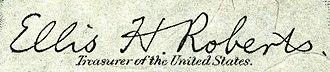Ellis H. Roberts - Image: Ellis Henry Roberts (Engraved Signature)
