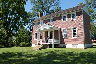 Battle of the Wilderness - View of the front of Ellwood Manor, originally built around 1790 by William Jones. During the battle this structure, then owned by J. Horace Lacy, was used as the headquarters of Gouverneur Warren. Ellwood is the last remaining structure from the Battle of the Wilderness still standing today.