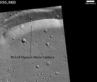 Elysium Mons - Image: Elysium Mons Caldera