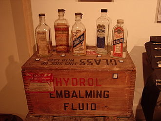 Embalming chemicals - Various early 20th Century embalming fluids