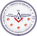 Emblema de la Respetable Logia Obreros de Hiram, nº 29.jpg