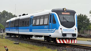 Argentine train used on commuter rail services