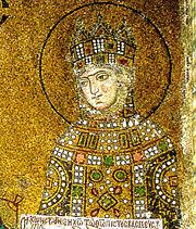 Η Αυτοκράτειρα Ζωή όπως απεικονίζεται σε μωσαϊκό της Αγίας Σοφίας