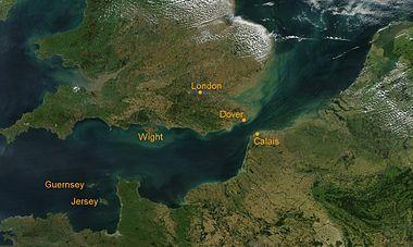 Η θάλασσα της Μάγχης από τον δορυφόρο