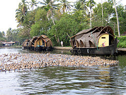 House Boat on Kerala water-ways