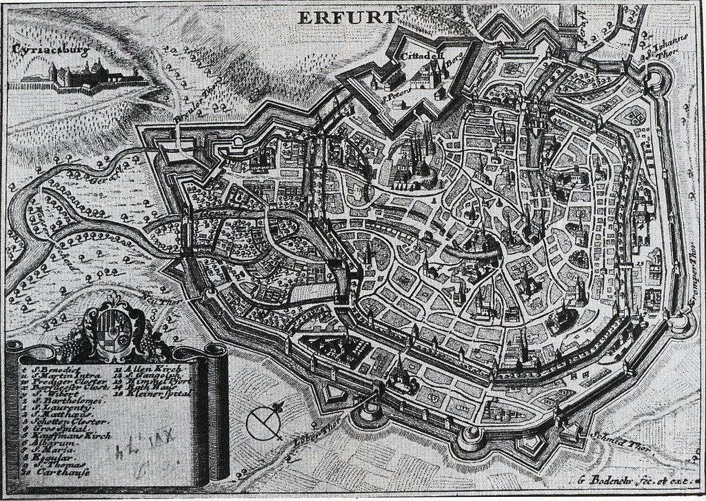 Erfurt Petersberg 1730