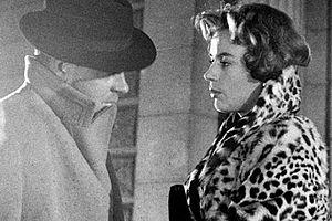 Erik Strandmark - Strandmark and Harriet Andersson in Woman in a Fur Coat (1958).