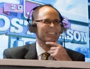 Ernie Johnson Jr. - Johnson at the Baltimore Orioles ALDS Game on October 7, 2012