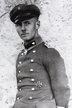 Erwin Rommel - Lieutenant Rommel in Italy, 1917.