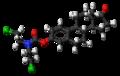 Estromustine molecule ball.png