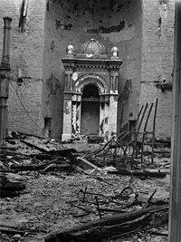 Eszék, zsinagóga romjai. Fortepan 71567.jpg
