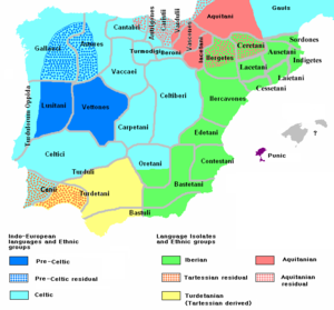 Celtiberians - Ethnology of the Iberian Peninsula c. 200 BC, based on the map by Portuguese archeologist Luís Fraga