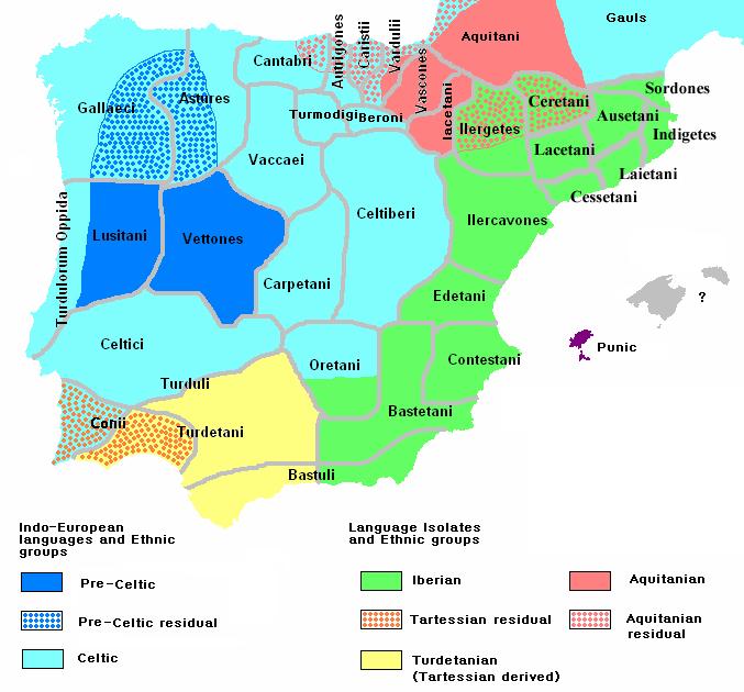 Ethnographic Iberia 200 BCE