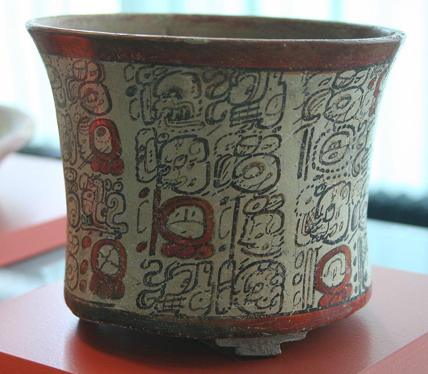Vase maya avec des inscription - Musée ethnologique de Berlin.