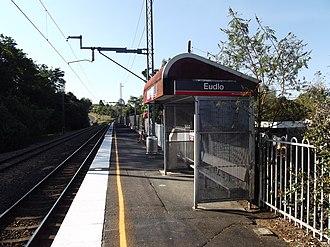 Eudlo railway station - Northbound view in September 2012