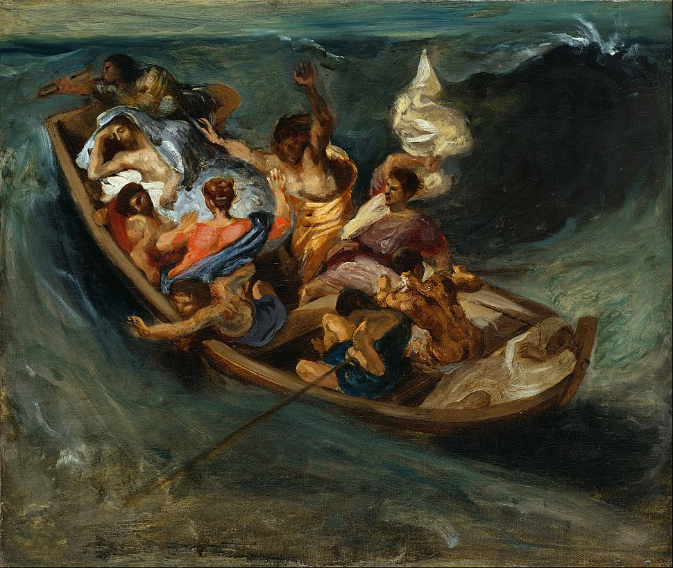 Eugène Delacroix - Christ on the Sea of Galilee - Google Art Project