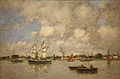 Eugene Boudin - Bordeaux, Boats on the Garonne (1876).jpg
