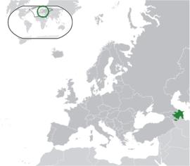 아제르바이잔의 위치