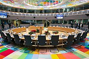 Council of the EU and European Council meeting room in the Europa building