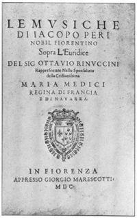Eurydice oopperan käsikirjoituksen kansi