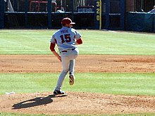 Evansville at Arkansas baseball, 2013 024.jpg