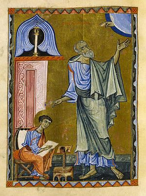 Evangeliary - Miniature from the Armenian Skevra Evangeliary, ca. 1198, National Library of Poland.