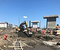 Excavating a ductbank that will connect to a manhole for the future Mid-day storage yard. (CQ033, 07-18-2018) (42628444135).jpg