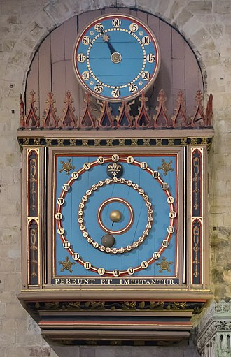 12-hour clock - Exeter Cathedral Astronomical Clock, showing the double-XII numbering scheme