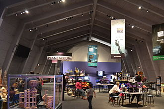 Lawrence Hall of Science - An exhibit hall and the planetarium