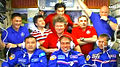 Expedition 44 crew greeting with guests.jpg