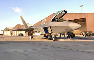 49th Wing - F-22 Raptor parked on the flightline at Holloman AFB, New Mexico