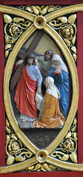 File:FN Ailingen Pfarrkirche Choraltar Unterbau Relief 4.jpg