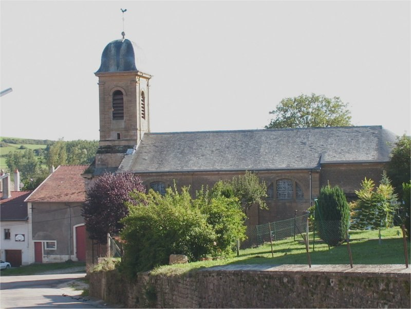 The church seen from Couvreux Road