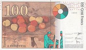 100 Franc Rückseite