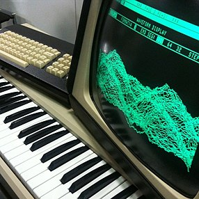 Sample-based synthesis may be one of the most popular methods at the moment. Fairlight green screen.jpg